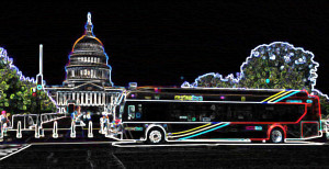 bus at capitol line art